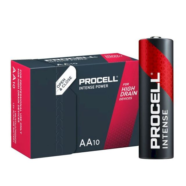 Piles LR6 PX1500 alcalines AA Procell Intense 1.50V DURACELL PROCELL