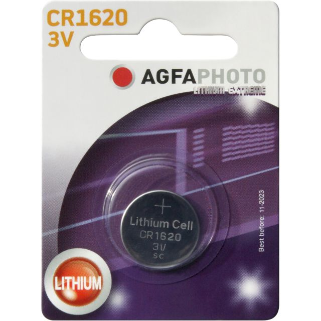 PILE CR1620 LITHIUM PHOTO 3V 70mAh x1 AGFA