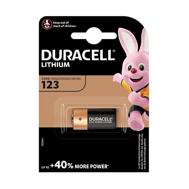 PILE CR123A LITHIUM PHOTO 3V 1400mAh BL1 DURACELL