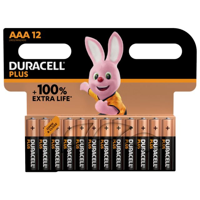 Piles LR03 alcaline Plus Power AAA MN2400 1.5V BL12 DURACELL