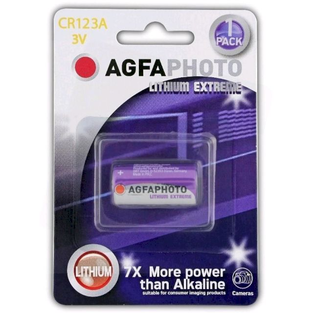 PILE CR123A LITHIUM EXTREME PHOTO 3V 1400mAh x1 AGFA