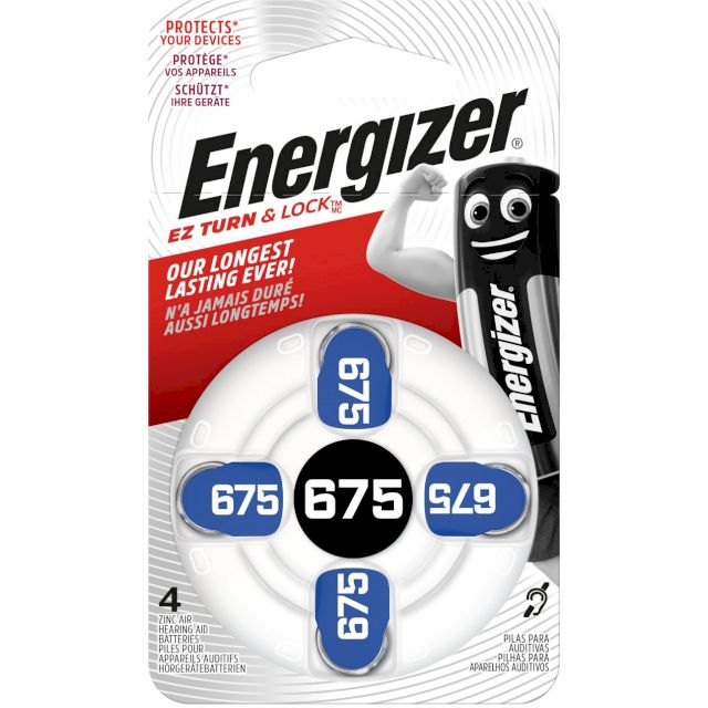 PILES AUDITIVES 675 1.4V 635mAh ENERGIZER