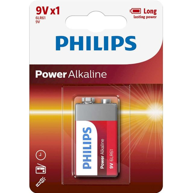 PILE 6LR61 POWER ALCALINE 9V BL1 PHILIPS